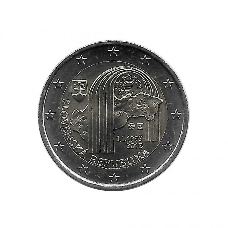 Euromünze 2 Euro Slowakei Freiheit Jahr 2018 Unzirkuliert UNZ | Gedenkmünzen Sammlermünzen - Alotcoins
