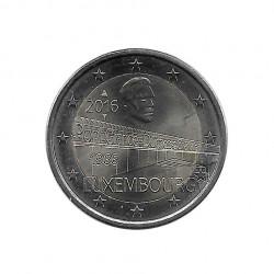 Euromünze 2 Euro Luxemburg Großherzogin Charlotte Brücke Jahr 2016 Unzirkuliert UNZ | Gedenkmünzen - Alotcoins