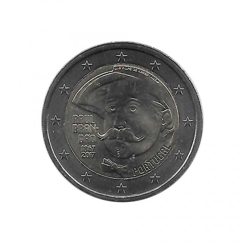 Euromünze 2 Euro Portugal Raul Brandão Jahr 2017 Unzirkuliert UNZ | Euromünzen - Alotcoins