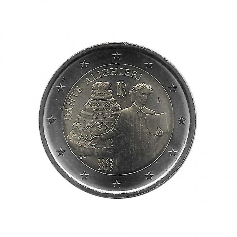2 euros commemorative coin Italy Dante Alighieri Year 2015 Uncirculated UNC | Numismatic shop - Alotcoins