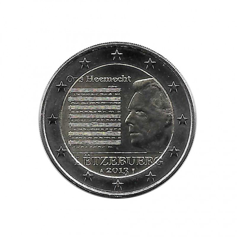 Commemorative Coin 2 Euros Luxembourg Henri I National Anthem Year 2013 Uncirculated UNC | buy collectible coins - Alotcoins