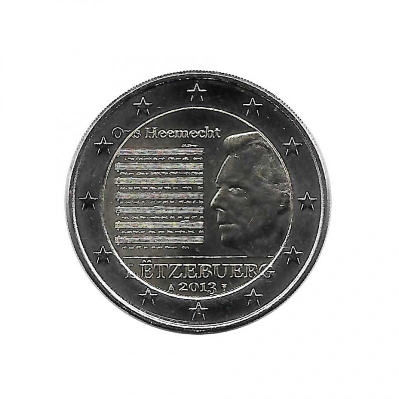 Euromünze 2 Euro Luxemburg Henri I Nationalhymne Jahr 2013 Unzirkuliert UNZ | Gedenkmünzen - Alotcoins