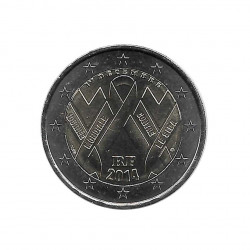 Commemorative Coin 2 Euros France World AIDS Day on December 1 2020 Year 2014 Uncirculated UNC   Collectible coins - Alotcoins