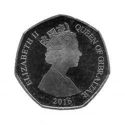Moneda 50 Peniques Gibraltar Macaco Año 2016 2 | Numismática Online - Alotcoins