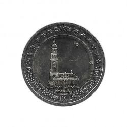 Moneda 2 euros Conmemorativa Alemania Iglesia San Miguel Hamburgo D año 2008 Sin circular SC | Numismática española - Alotcoins