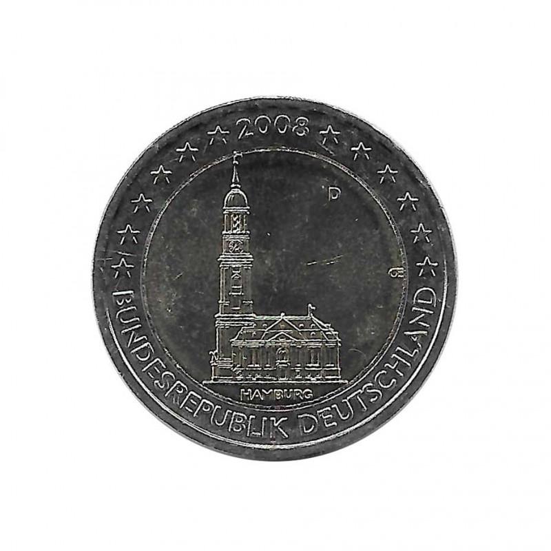 Commemorative Coin 2 Euro Germany St. Michel´s Church Hamburg D Year 2008 Uncirculated UNC | Numismatic shop - Alotcoins