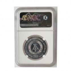 Silbermünze 20 Mark Deutsche Demokratische Republik DDR Friedrich Engels Jahr 1970 | Gedenkmünzen - Alotcoins