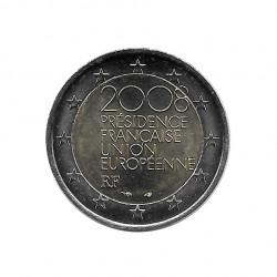 Moneda 2 Euros Conmemorativa Francia Presidencia francesa de la UE Año 2008 Sin circular SC | Monedas de colección - Alotcoins