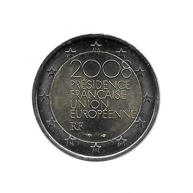Collectable Coin 2 Euro France French Presidency of the EU Year 2008 Uncirculated UNC | Commemorative coins - Alotcoins