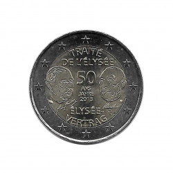 Commemorative Coin 2 Euro France 50th Anniversary Élysée Treaty Year 2013 Uncirculated UNC | Collectible coins - Alotcoins