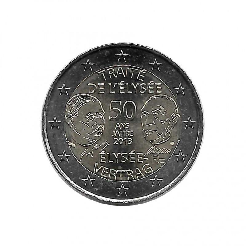 Moneda 2 Euros Conmemorativa Francia 50º aniversario Tratado Elíseo Año 2013 Sin circular SC | Monedas de colección - Alotcoins