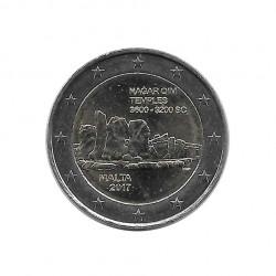 Moneda de 2 Euros Conmemorativa Malta Templos de Ħaġar Qim Año 2017 Sin circular SC | Numismática española - Alotcoins