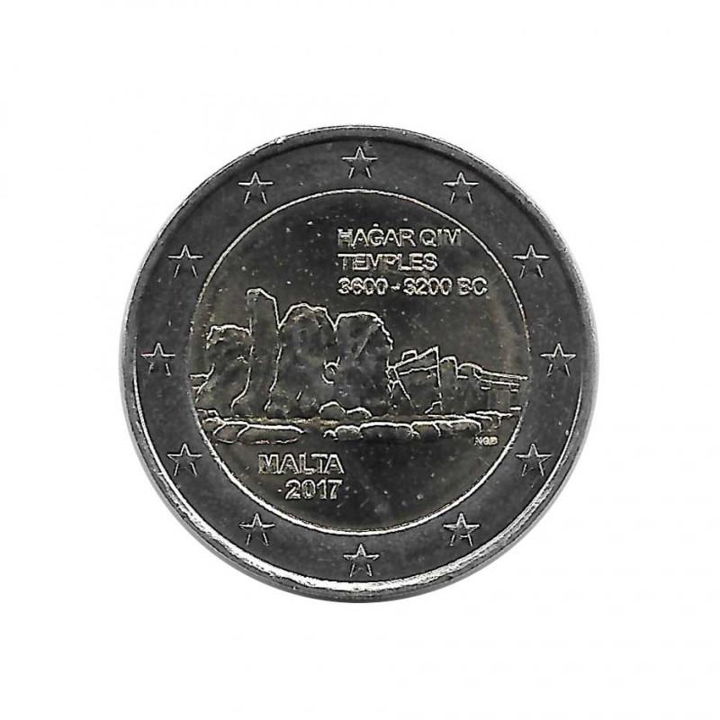 Commemorative Coin 2 Euro Malta Ħaġar Qim Temples Year 2017 Uncirculated UNC | Collector coins - Alotcoins