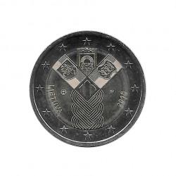 Moneda 2 Euros Conmemorativa Lituania Estados Bálticos Año 2018 Sin circular SC | Monedas de colección - Alotcoins