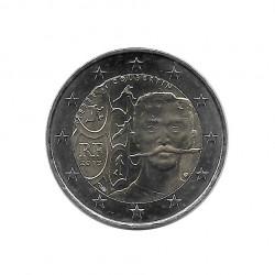 Gedenkmünze 2 Euro Frankreich Pierre de Coubertin Jahr 2013 Unzirkuliert UNZ | Euromünzen - Alotcoins