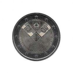 Moneda 2 Euros Conmemorativa Estonia Estados Bálticos Año 2018 Sin circular SC | Monedas de colección - Alotcoins