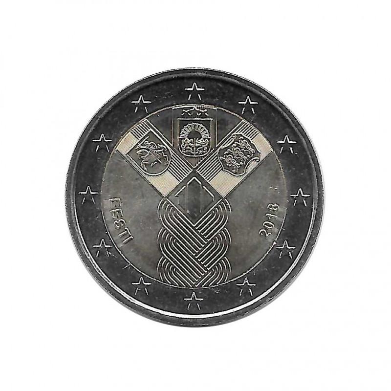 Commemorative Coin 2 Euro Estonia Baltic States Year 2018 Uncirculated UNC | Collector coins - Alotcoins