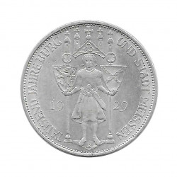 Moneda de plata 3 Reichsmarks Alemania Meissen E Año 1929 | Monedas de colección - Alotcoins