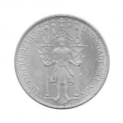 Silbermünze 3 Reichsmark Deutsches Reich Meißen E Jahr 1929 | Sammlermünzen Numismatik - Alotcoins