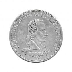 Moneda de plata 5 Marcos Alemania Friedrich von Schiller F Año 1955 | Monedas de colección - Alotcoins