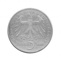Silver Coin 5 German Mark Germany Friedrich von Schiller F Year 1955 | Collectible coins - Alotcoins