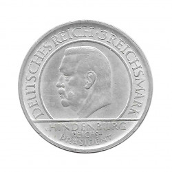 Silver Coin 3 Reichsmarks Germany Weimar Stuttgart F Year 1929 | Collectible coins - Alotcoins