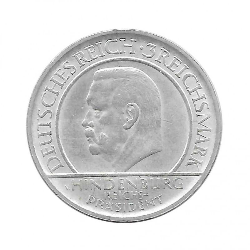 Moneda de plata 3 Reichsmarks Alemania Weimar Stuttgart F Año 1929 | Piezas únicas de numismática - Alotcoins