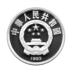 Silbermünze 10 Yuan China Laufen Jahr 1993 Polierte Platte PP | Gedenkmünzen Sammlermünzen - Alotcoins