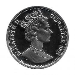 Silbermünze Gibraltar 14 ECU Kanaltunnel Jahr 1993 Polierte Platte PP | Numismatik Sammlermünzen - Alotcoins