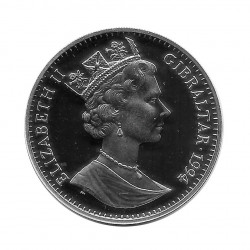 Silbermünze Gibraltar 21 ECU Kanaltunnel Jahr 1994 Polierte Platte PP | Numismatik shop Gedenkmünzen - Alotcoins