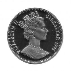 Moneda de plata 21 ECUs Gibraltar Quinta Ampliación Unión Europea UE Año 1995 Proof | Monedas de colección - Alotcoins