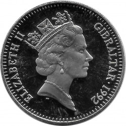 Commemorative Coin 2.8 ECU Gibraltar Knight Year 1992 Uncirculated UNC | Numismatic shop Collectables - Alotcoins