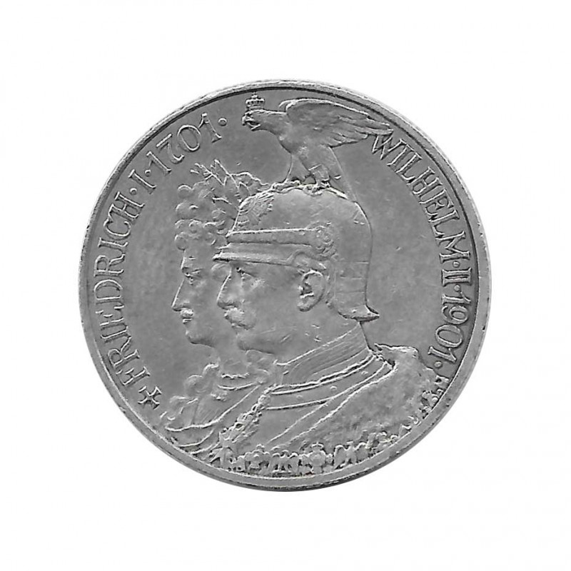 Silver Coin 2 Mark Germany Friedrich I and Wilhelm II Kingdom of Prussia Year 1901 | Collectibles - Alotcoins