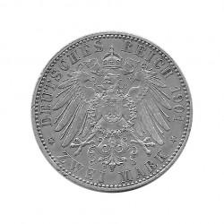 Silbermünze 2 Mark Deutsches Reich Friedrich I und Wilhelm II Königreichs Preußen Jahr 1901 | Sammlermünzen - Alotcoins
