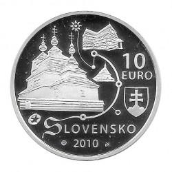 Moneda de plata 10 Euros Conmemorativa Eslovaquia Iglesias de Madera Año 2010 Proof | Monedas de colección - Alotcoins