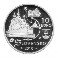 Silver Coin 10 Euro Slovakia Wooden Churches Year 2010 Proof | Collectibles - Alotcoins