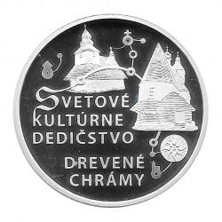 Moneda de plata 10 Euros Conmemorativa Eslovaquia Iglesias de Madera Año 2010 Proof | Numismática Española - Alotcoins