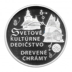 Silbermünze 10 Euro Slowakei Holzkirchen Jahr 2010 Polierte Platte PP   Deutsche Sammlermünzen - Alotcoins