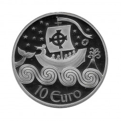Silver Coin 10 Euro Ireland Year 2011 Navigator Proof | Numismatic Store - Alotcoins