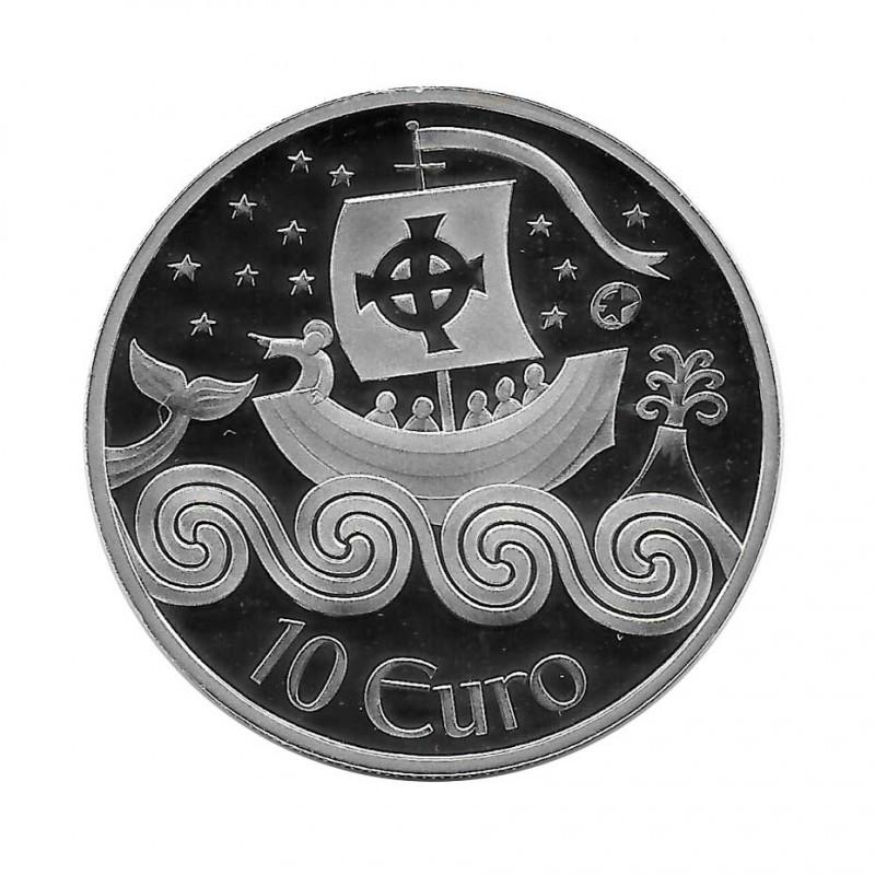 Moneda de plata 10 Euros Irlanda Año 2011 Navegante Proof | Monedas de colección - Alotcoins