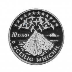 Silver Coin 10 Euro Ireland Year 2008 Skellig Michael Great Skellig Proof | Collectibles - Alotcoins