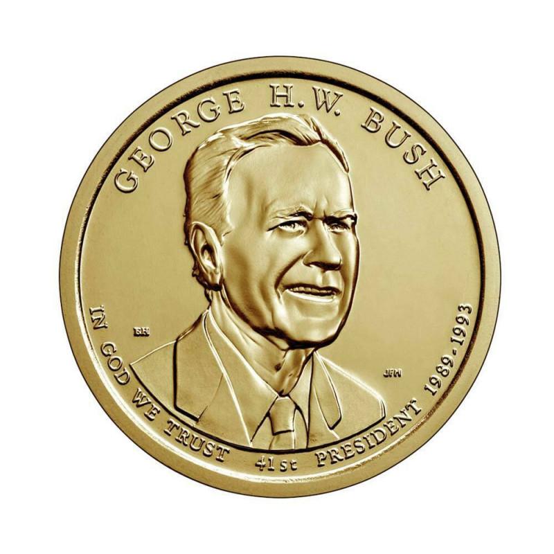 Gedenkmünze 1 Dollar Vereinigte Staaten US-Präsidenten Bush Jahr 2020 Unzirkuliert UNZ | Numismatik Shop - Alotcoins