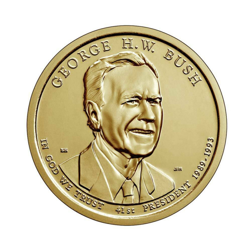 UNC Coin 1 Dollar United States Bush US President Year 2020 Uncirculated | Numismatic Shop - Alotcoins