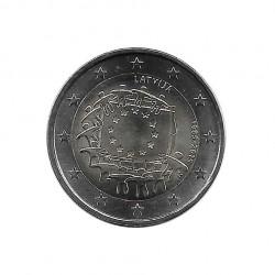 Euromünze 2 Euro Lettland 30 Jahre EU-Flagge Jahr 2015 Unzirkuliert UNZ | Euromünzen - Alotcoins