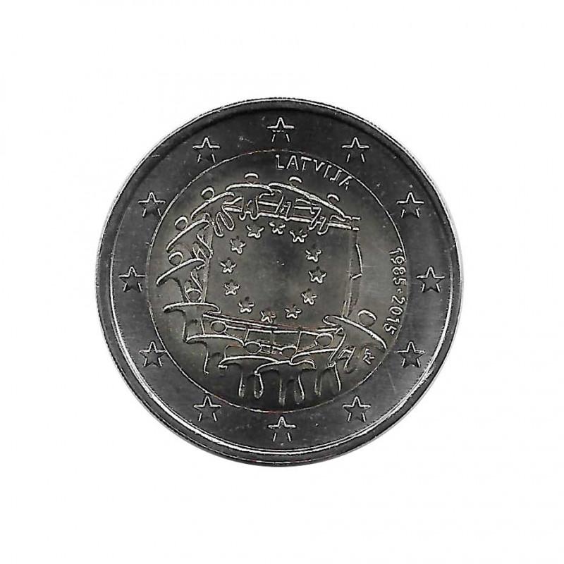 Moneda 2 Euros Conmemorativa Letonia Bandera UE Año 2015 Sin circular SC | Monedas de colección - Alotcoins