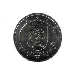 Commemorative Coin 2 Euro Latvia Kurzeme Region Year 2017 Uncirculated UNC Numismatic   Collectible coins - Alotcoins