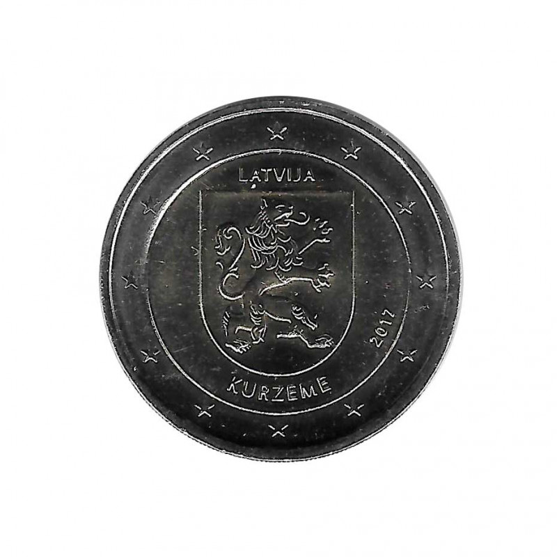 Commemorative Coin 2 Euro Latvia Kurzeme Region Year 2017 Uncirculated UNC Numismatic | Collectible coins - Alotcoins