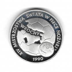 Coin Poland Year 1989 200,000 Zloty Silver Football Ball Soccer Proof PP