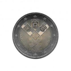 Euromünze 2 Euro Lettland Baltische Staaten Jahr 2018 Unzirkuliert UNZ | Gedenkmünzen Numismatik - Alotcoins