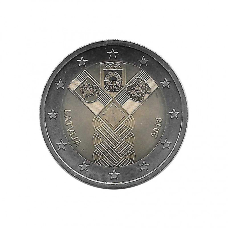 Commemorative Coin 2 Euro Latvia Baltic States Year 2018 Uncirculated UNC | Numismatic Store Shop - Alotcoins